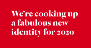 We're coooking up a new identity...