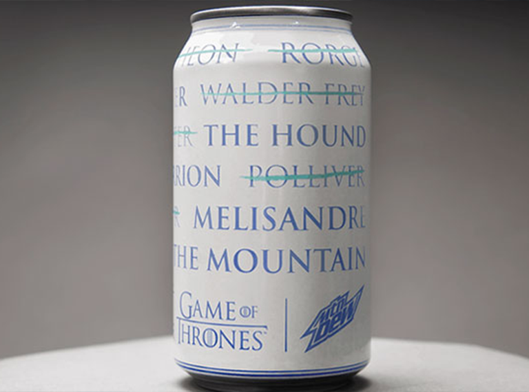 """Mountain Dew & Game of Thrones """"A Can Has No Name"""""""