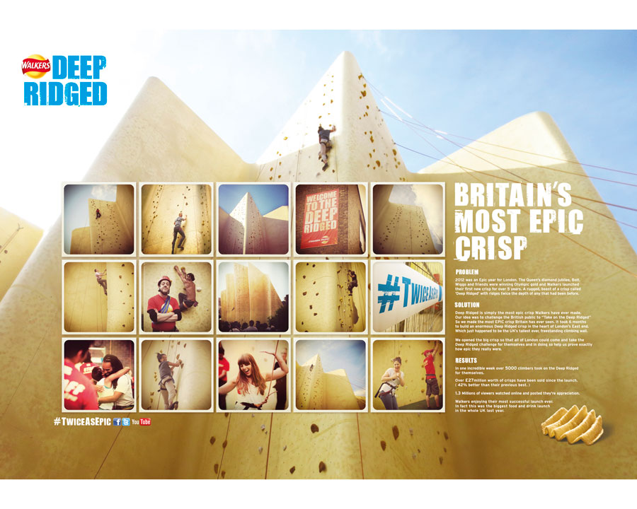2013 Fab Award Nomination AMV BBDO London Walkers Deep Ridged